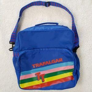 Vintage Retro Trafalgar Messenger Bag Rainbow